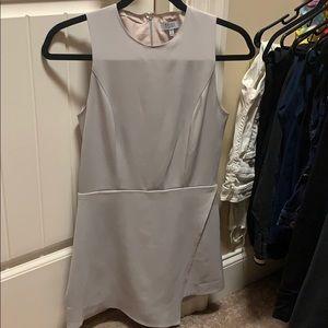 Grey asymmetrical romper